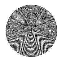 ラウンドウィースプラセマットファッションPPダイニングテーブルマットディスクパッドボウルパッドコースター防水テーブルクロスパッドキッチンコーヒーバー (Color : Gray, Size : 18cm)