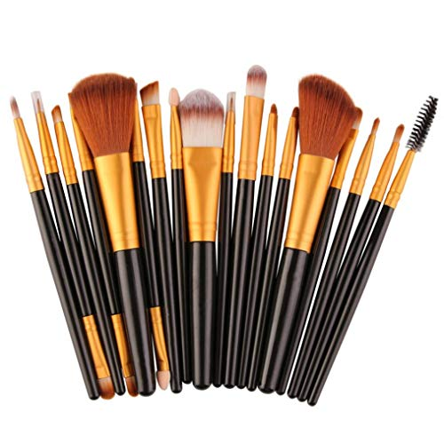 YunYoud 18 stücke Make-Up Pinsel Set werkzeuge Make-up Kulturbeutel Wolle welche make up pinsel...