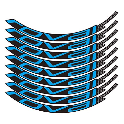 Pegatinas de bicicleta Bicicleta de montaña Control Roval SL29 pulgadas 25 mm Ancho Ancho Conjunto de ruedas Color Pegatina MTB Calcomanías de RIM (Color : Blue)