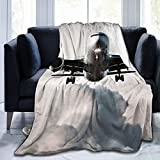 xianjing Fleece Throw Blanket, Airplane Art Warm Soft Microfiber Blankets, Lightweight for Couch, Bed, Sofa All Seasons