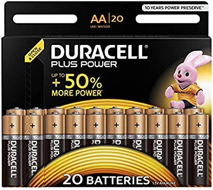 Duracell Plus Power Alkaline AA Batterien, 20er Pack