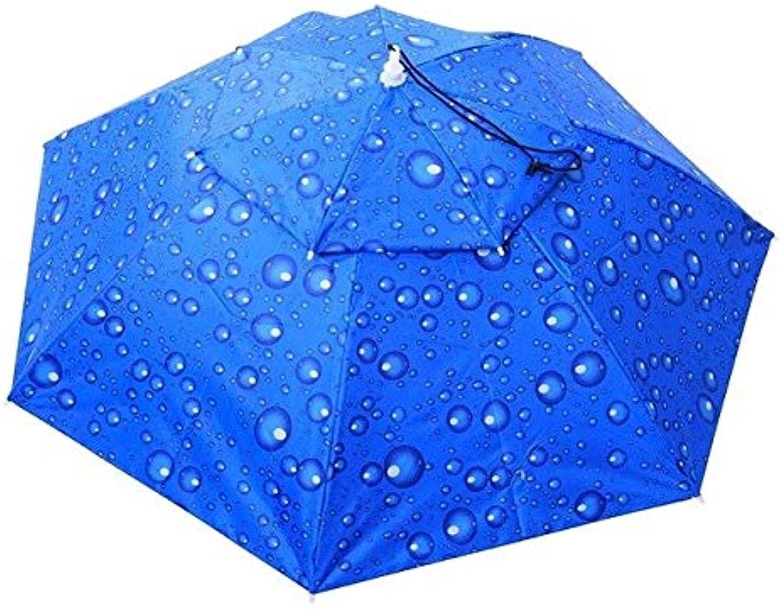 CUSHY Folda Head Umbrella Hat AntiRain AntiUV Outdoor Fishing Caps Porta Travel Hiking Beach Fishing Tackle Pesca Rain  95cm