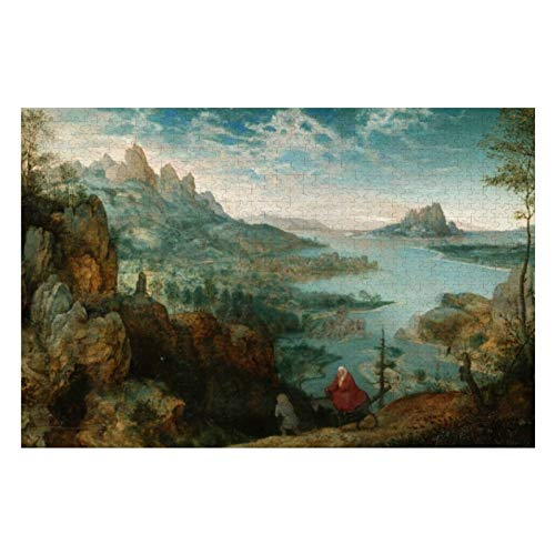 Landscape with The Flight Into Egypt Puzzles for Adults, 1000 Piece Kids Jigsaw Puzzles Game Toys Gift for Children Boys and Girls, 20