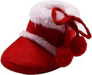 WEXCV Babymeisjes peuters zuigelingen nieuwborn mooie herfst winter warme zachte zool sneeuwschoenen zacht pluche verdikt ...