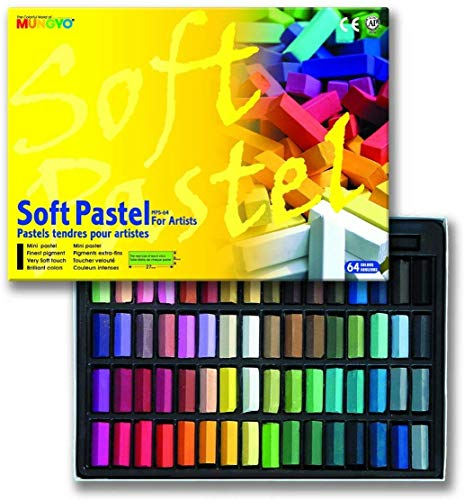 Mungyo Soft Pastel 64 Color Set Square Chalk