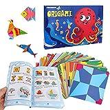 YeVhear Colorful Origami Paper, Colorful Kids Origami Kit, 152 hojas de papel de doble cara, 72 exquisitos patrones, 80 páginas de manual de origami, adecuado para niños, clases de manualidades, prin