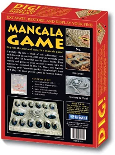 DIG  & DISCOVER  Mancala Game by Kristal Educational