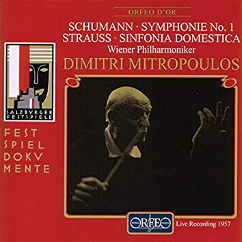 Schumann: Symphony No. 1 – Strauss: Sinfonia domestica (Live)