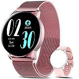 AIMIUVEI Smartwatch Mujer, Reloj Inteligente IP67 con Pulsómetro Presión Arterial 6 Modos de Deportes Monitor de Sueño, 1.3 Inch Reloj Deportivo Mujer para iOS y Android