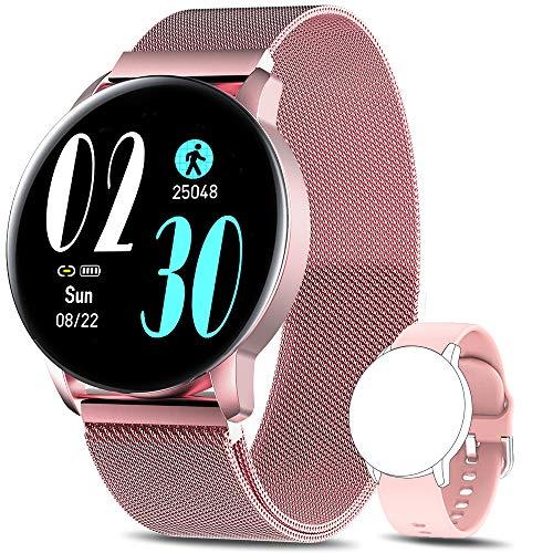 AIMIUVEI Smartwatch, Reloj Inteligente IP67 con Pulsómetro Presión Arterial 8 Modos de Deportes Monitor de Sueño, 1.3 Inch...