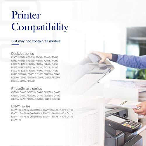 Valuetoner Remanufactured Ink Cartridge Replacement for HP 60XL 60 XL High Yield D8J61BN CC641WN CC644WN (1 Bla   ck, 1 Tri-Color) 2 Pack for Photosmart C4680 D110, Deskjet D2680 F2430 F4210 Printer