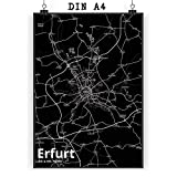 Mr. & Mrs. Panda Poster DIN A4 Stadt Erfurt Stadt Black -