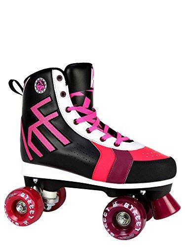 KRF Kinder Street Rollschuhe, Roller Figure Quad, Black, 35