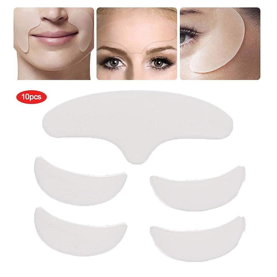 入場剛性リス目の顔の額のための5個のシリコンリンクルパッド