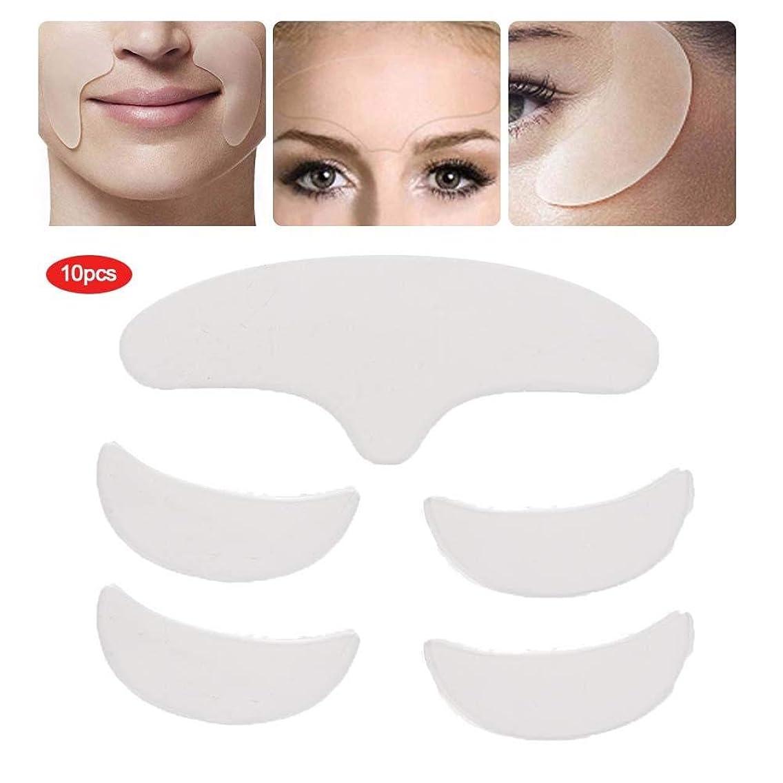 キネマティクス看板子目の顔の額のための5個のシリコンリンクルパッド