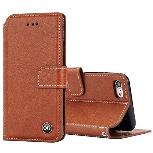 Lincom - Funda tipo libro para iPhone 7 Plus, color marrón