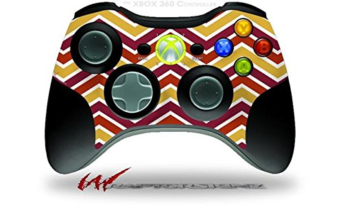XBOX 360 Wireless Controller Decal Style Skin - Zig Zag Yellow Burgundy Orange (CONTROLLER NOT INCLUDED)