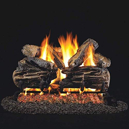 Purchase Peterson Real Fyre 18-Inch Charred Split Oak Gas Log Set with Vented Propane ANSI Certified...