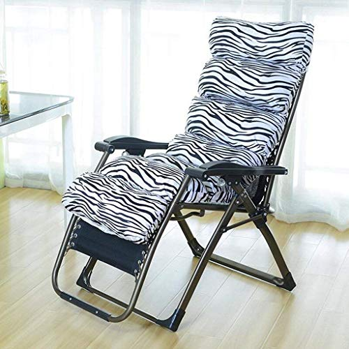 NMDDCDH - es lohnt Sich Zebra Pattern Klappstuhl Mittagspause Lounge Chair Schlafsessel Freizeit Lazy Sofa Chairs for The Elderly