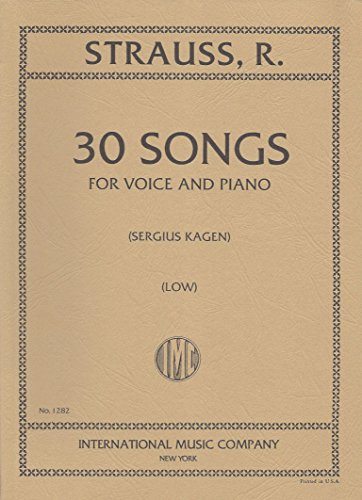 Strauss: 30 Songs - Low Voice (I...