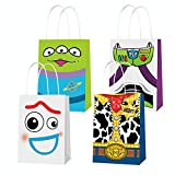 Toy Inspired Story Party Supplies, Party Favor Goodie Gift Bags, Including 4 Patterns Double Sided Printed Ideal for Kid Birthday Party Decorations (12 PCS)