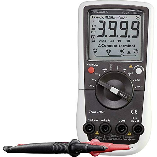 Voltcraft VC271 (K) Hand-Multimeter kalibriert (ISO) CAT III 600V Anzeige (Counts): 4000