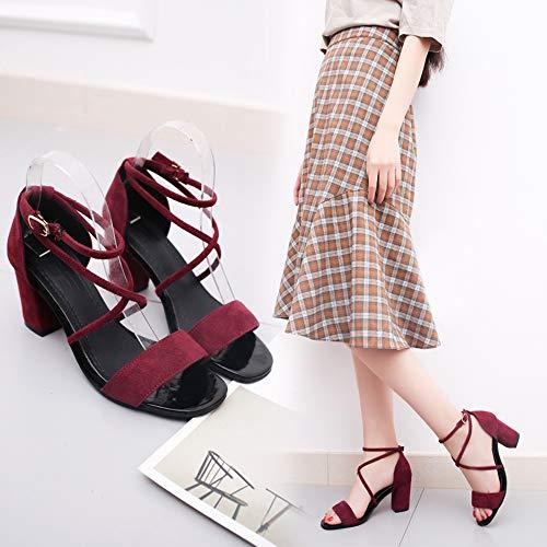 Vrouwen hak sandalen Vintage teen smalle band hoge hak sandalen vrouwen zomer schoenen vrouwen