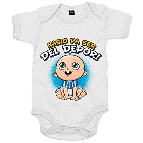 Body bebé nacido para ser del Depor Coruña fútbol - Blanco, 6-12 meses