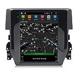 ADMLZQQ Multimedia del Coche Radio Estéreo Reproductor De Videocon Android 9 para Honda Civic 2016 GPS Bluetooth Enlace Espejo USB WiFi Control del Volante,4 Cores 4g+WiFi:2+32g