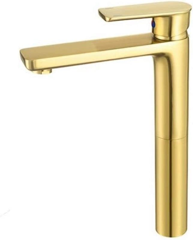 JF-XUAN Tap Gifts Faucet Brushed Gold Mounted Single Desk Sink Han Max 51% OFF