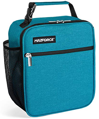 MAZFORCE Original Lunch Bag Insulated Lunch Box - Tough & Spacious Adult Lunchbox to Seize Your Day (Ultra Blue - Lunch Bags Designed in California for Men, Adults, Women)