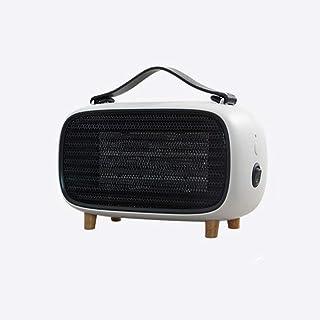 SXYRN Mini Calentador De Cerámica De 500 Vatios, Elemento Calefactor PTC, Protección contra Sobrecalentamiento, Escritorios Y Mesas, Blanco