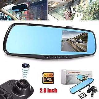 Sedeta - Espejo retrovisor y grabadora para coche / cámara