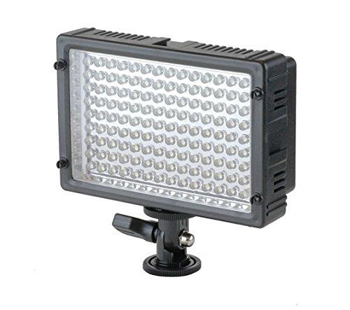 Impulsfoto Kraftvolle Videoleuchte 126 LED's, Lichtkamera mit Dimmer und 2 Filtern für alle gängigen Kameras