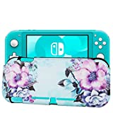 Casetego Compatible with Switch Lite 2019 Case,Perfect Grip TPU Cover with Fashionable Designs,Shockproof Anti-Scratches Game Carrying Travel Case for Switch Lite,Blue Flower