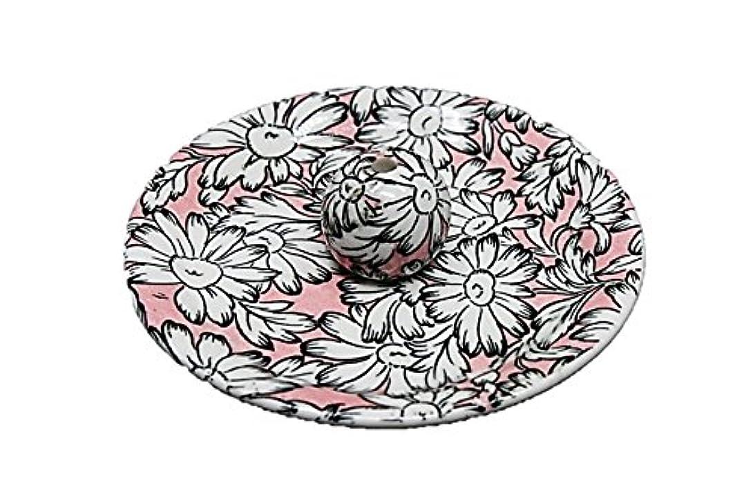 相続人ビン実行9-22 マーガレットピンク 9cm香皿 お香立て お香たて 陶器 日本製 製造?直売品