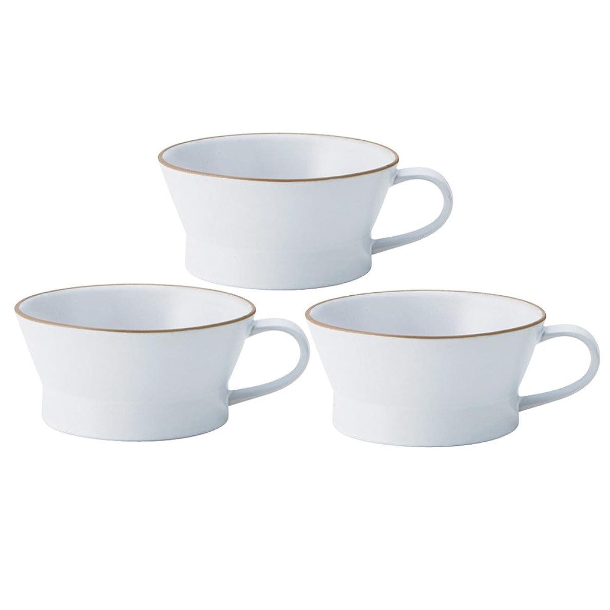 しかし太いコミュニケーションTAMAKI エッジライン スープカップ ホワイト 3個セット T-788370