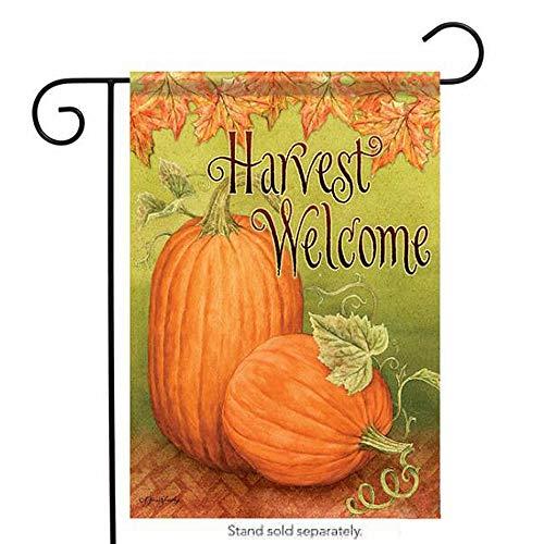 WOMHOPE Herbstfahne, doppelseitig, vertikal, 30,5 x 45,7 cm, Jute, rustikal, Ernte, Herbst, Kürbis-Dekoration Garten, Flagge 12