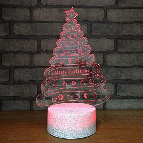 3D illusie lamp LED nachtlampje nachtlamp boom 7 kleuren wijzigen met afstandsbediening Touch tafellamp voor slaapkamer Home Decoratie, huwelijk, verjaardag, Kerstmis en romantische Valentijnsdag