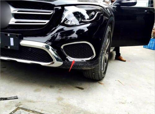 Preisvergleich Produktbild Stoßfänger Chrom Zierleiste ABS Kunststoff 2 Stück für GLC X253 2015-2019(Nicht für GLC Coupé,  Nicht für AMG Line)