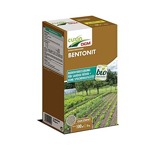 Cuxin Bio Bentonit Granulat für ca. 100 m²⎜Gesteinsmehl verbessert die Bodenstruktur von sandigen Böden⎜ (3,0 Kg)