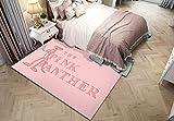Happves Alfombra Bonita Pantera Rosa Moderno geométrico Tradicional Sala de Estar Dormitorio decoración del hogar Yoga Ocio Estera Estera de arrastre-160x230cm