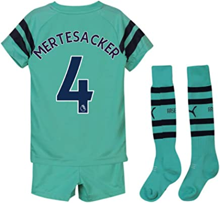 UKSoccershop 20182019 Arsenal Third Little Boys Mini Kit (Per Mertesacker 4)