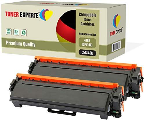 2er Pack TONER EXPERTE® Schwarz Premium Toner kompatibel zu HP 410X CF410X für HP Color Laserjet Pro M452dn M452nw M452dw MFP M377dw M477dw M477fdn M477fdw M477fnw