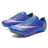 X/L Zapatillas Track Spikes Zapatos de Running Unisex para Niños Entrenamiento de Competición 8 Clavos Sprint Zapatillas Deportivas(Size:38 EU,Color:NN-A)