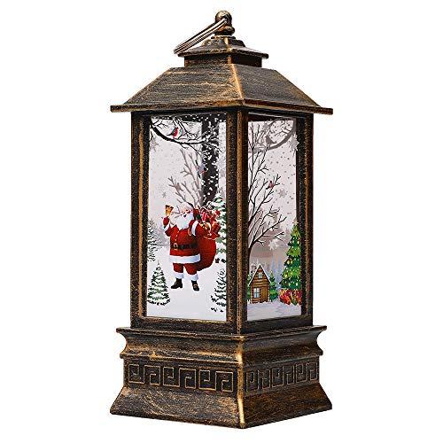 1PC Lanterne di Natale, Vintage Candela di Natale con LED Tea Light Santa Claus Lanterna Lampada A Sospensione Fireless Candele Lampada per Natale Vacanze Tavolo Decorazioni