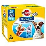 Pedigree Dentastix Diario Oral Cuidado Perro Pequeño 5-10 K G, 56 palitos, pack de 1