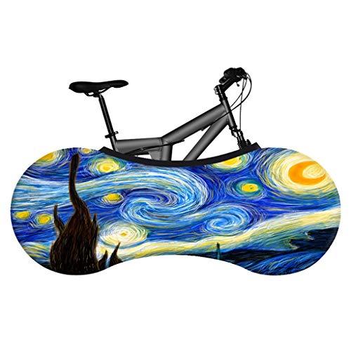 Cubierta de la rueda de bicicleta, bolsa de almacenamiento de la bicicleta de la bicicleta de la puesta del sol de UV del viento del polvo, la envoltura de viaje de la bicicleta lavable, para biciclet