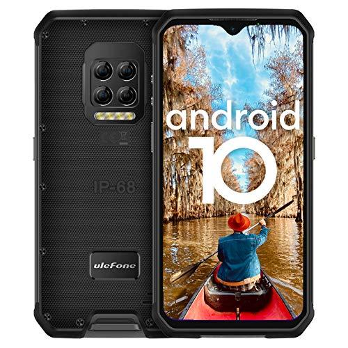 Outdoor Smartphone ohne Vertrag, Ulefone Armor 9E Handys, Android 10, Octa-Core 8+128GB (Erweiterung auf 2TB), 6,3-Zoll-FHD+Display, 64MP-Hauptkamera, 8+2+2MP-Subkameras, 6600mAh Batterie, Typ C