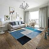 GJHT Alfombra Cama de Matrimonio habitación Rectangular Mesa Alfombra geométrica Simple Salón Comedor Dormitorio Alfombra café para casa (Color : B, Size : 240X340cm)